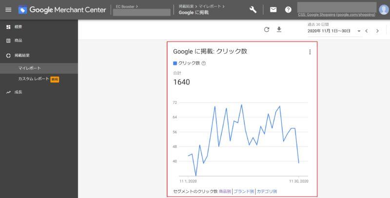Google 無料リスティング_Google Merchant Center 管理画面